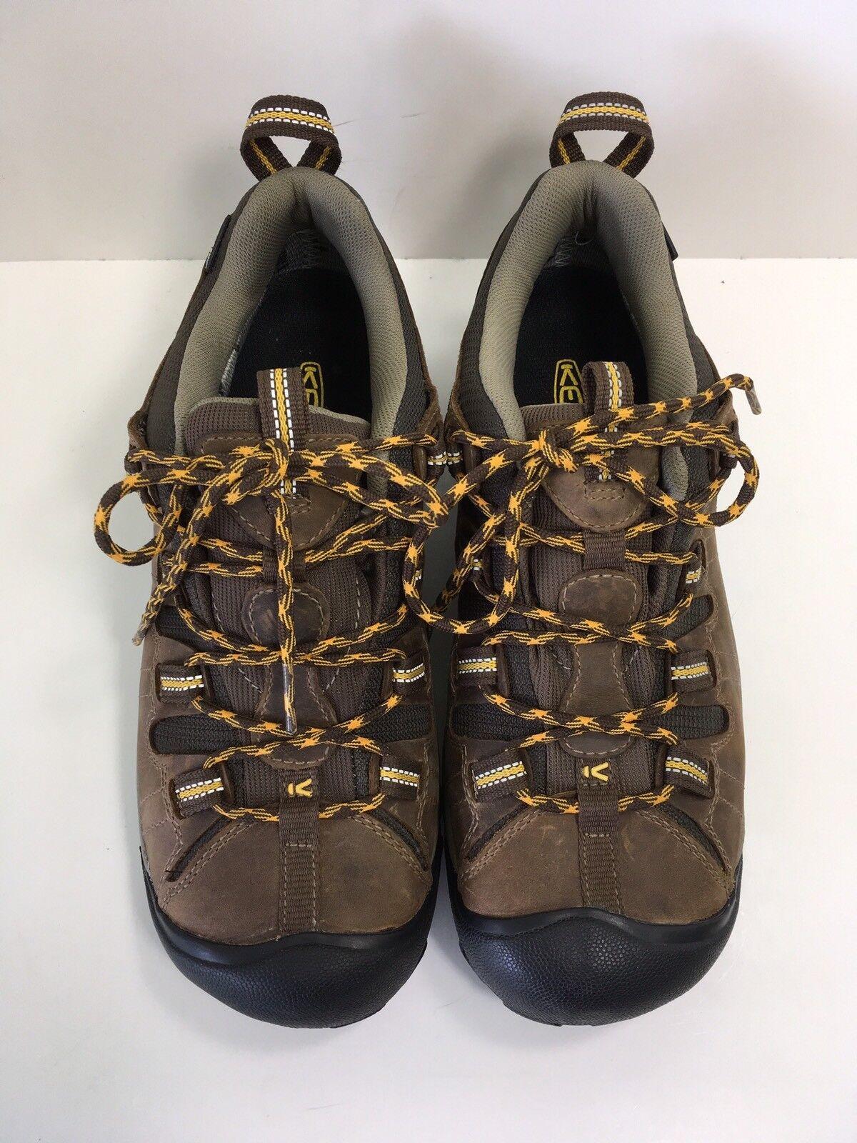 KEEN Men's Targhee II Mid Waterproof Hiking Boots Cascade size 8 M   NEW