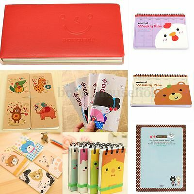 Mini Variety Styles Pocket Diary Notebook Planner Journal Memo Blank Thick Pages