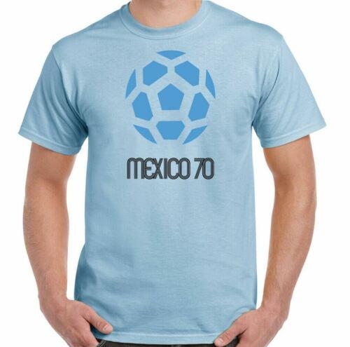Mexico 70 T-Shirt Calcio da Uomo Retrò 1970 World Coppa Logo Kit Top Inghilterra