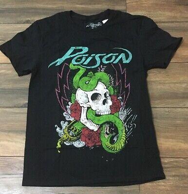 Officially Licensed Poison Hollywood Skull Men/'s T-Shirt S-XXL Sizes