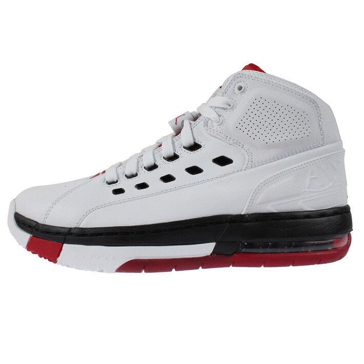 Jordan Ol' School Mens 317223-112 White Black Gym Red Basketball shoes Size 8.5