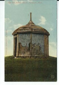 CG-077-MA-Plymouth-The-Old-Powder-House-Divided-Back-Postcard-Massachusetts