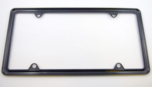 Slimline thin Black Plastic Durable Flexible License Plate Frame Set of 2 frames