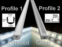 Aluminum Led Strip Fixture Channel 1 Meter Under Counter Cabinet Light Kit