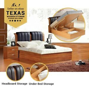 Amazing Details About Texas Brand New Single Double Kingsize Mdf Wooden Ottoman Storage Bed Frame Lamtechconsult Wood Chair Design Ideas Lamtechconsultcom
