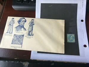 Confederate States of America Envelope and Scott #6 Jefferson Davis Stamp MHOG