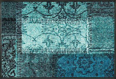 wash+dry Fußmatte Vintage Patches 3 Größen zur Wahl  waschbar Matte Kleen Tex