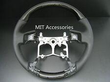 MIT TOYOTA PRADO FJ150 FJ-150 2009-2013 BLACK PIANO wood leather steering wheel