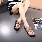 Women Beach Flip Flops Cotton Rubber Sandals Shoe Thong Summer Bohemia Flat NEW