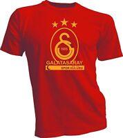 Galatasaray Sk Turkey Football Soccer T Shirt Spor Kulubu Jersey Red And Yellow