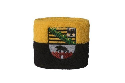 Schweißband Fahne Flagge Deutschland Sachsen-Anhalt 7x8cm Armband für Sport