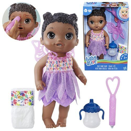 Baby Alive Face Face Face Paint Fairy Doll (African American) - Drinks and wets - In Stock e8f932