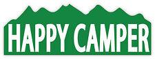 Happy camper contento  etichetta sticker 18cm x 6cm
