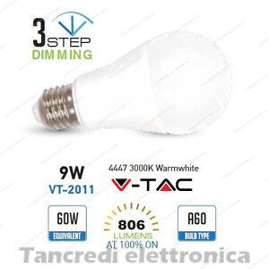 Lampadina-led-V-TAC-9W-E27-bianco-caldo-3000K-VT-2011-dimmerabile-3-step-globo