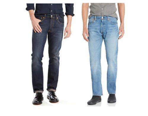 New Men/'s LEVI/'S 501 Jeans Original Fit Coupe Droite Stretch Taille 33 34 36 38
