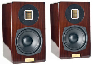 Blue-Aura-PS40-039-Limited-Edition-039-Bookshelf-Speakers-High-Gloss-Walnut-New