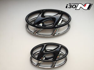 Hyundai-i-30N-Set-Cover-Emblem-hochglanz-schwarz-blacked-out-Badge-gloss-black