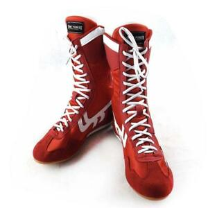 Details about Pop Boxing Boots Wrestling Taekwondo Training Shoes Adult Fitness High Top Shoes