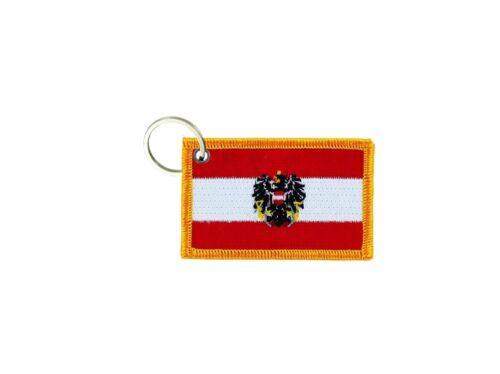 Porte cle cles clef brode patch ecusson badge drapeau autriche autrichien aigle