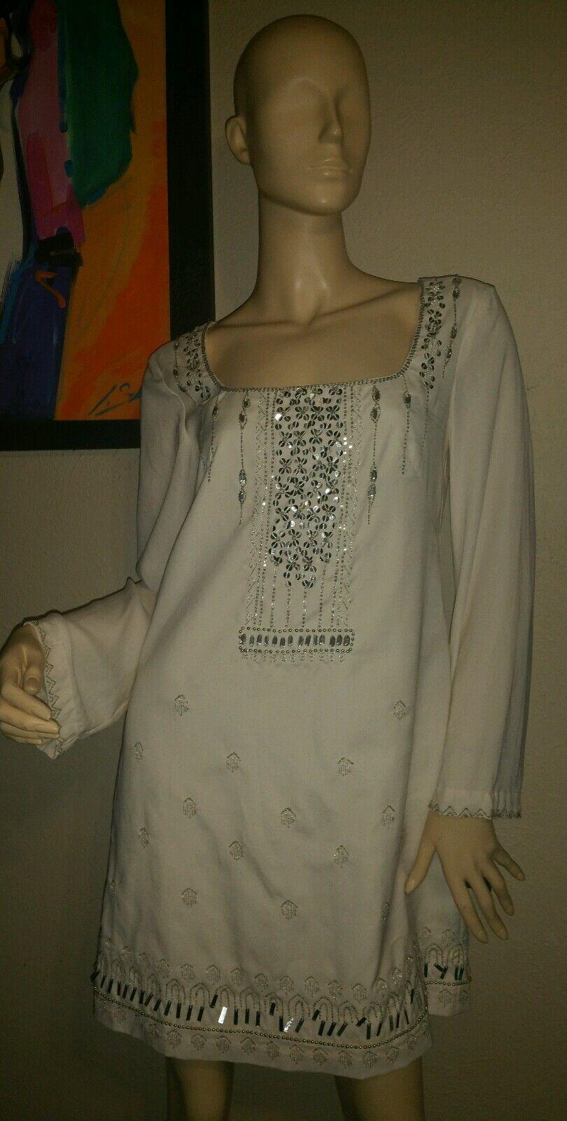 NANETTE LEPORE cream sequined  cocktail dress damen Größe 6 NWT
