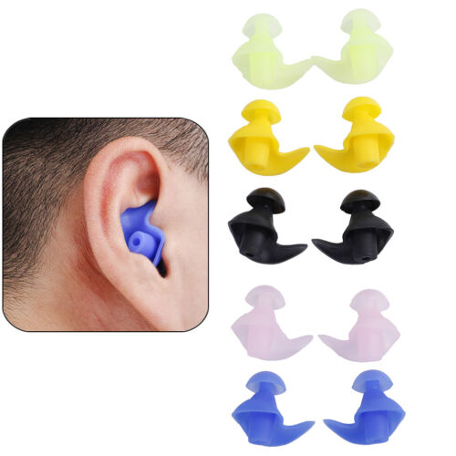 Soft Silicones Anti Noise Foam Ear Plugs For Swims Sleep Work Box Reusable SK