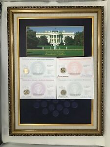 World Reserve Monetary Exchange Presidential Dollar Uncirculated Coins & Display
