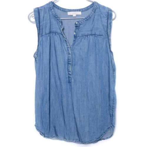 Loft Chambray Sleeveless Top Medium