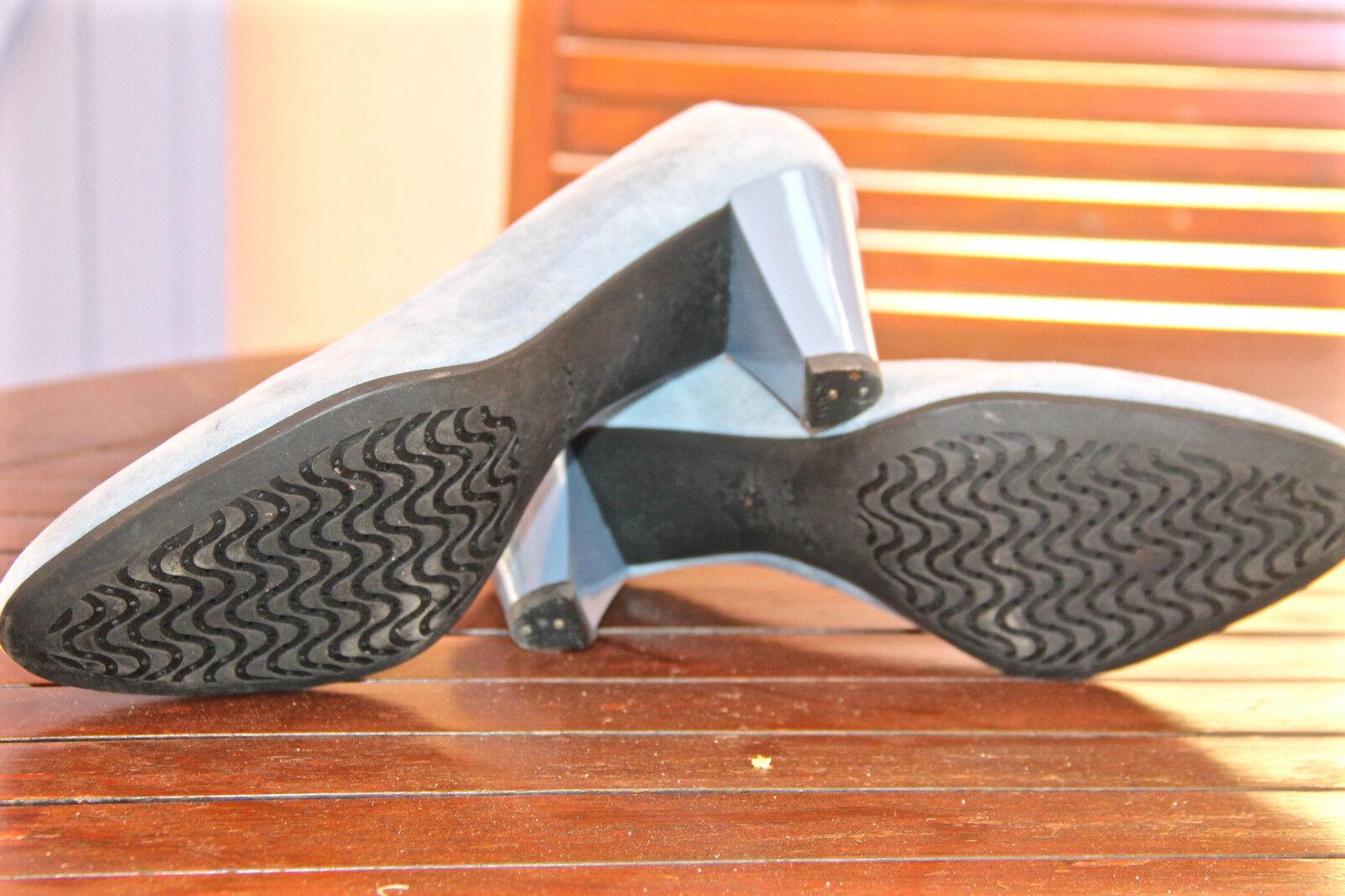 Jolis escarpins en cuir daim RESPIRA bleu 80 mm GEOX RESPIRA daim pointure 40 QUASI NEUFS d8516c