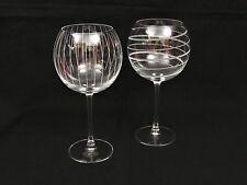 """2 Mikasa Cheers Crystal Balloon Wine Glasses 9"""""""