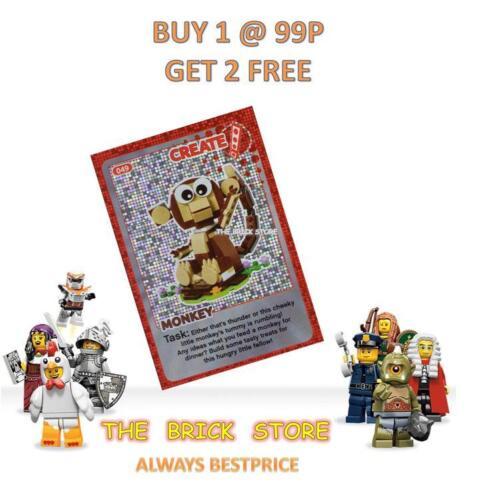 GIFT MONKEY LEGO #049 BESTPRICE CREATE THE WORLD TRADING CARD NEW