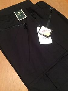 carabou-THERMAL-action-40-29-BLACK-trousers-RRP-34-99-work-lined-walking-zips