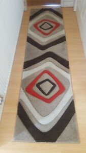 Beige Red Runner Rugs Size 60 X 230