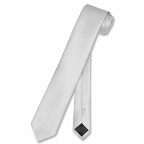 """Vesuvio Napoli Narrow NeckTie Solid Color 2.5/"""" Skinny Thin Men/'s Neck Tie"""
