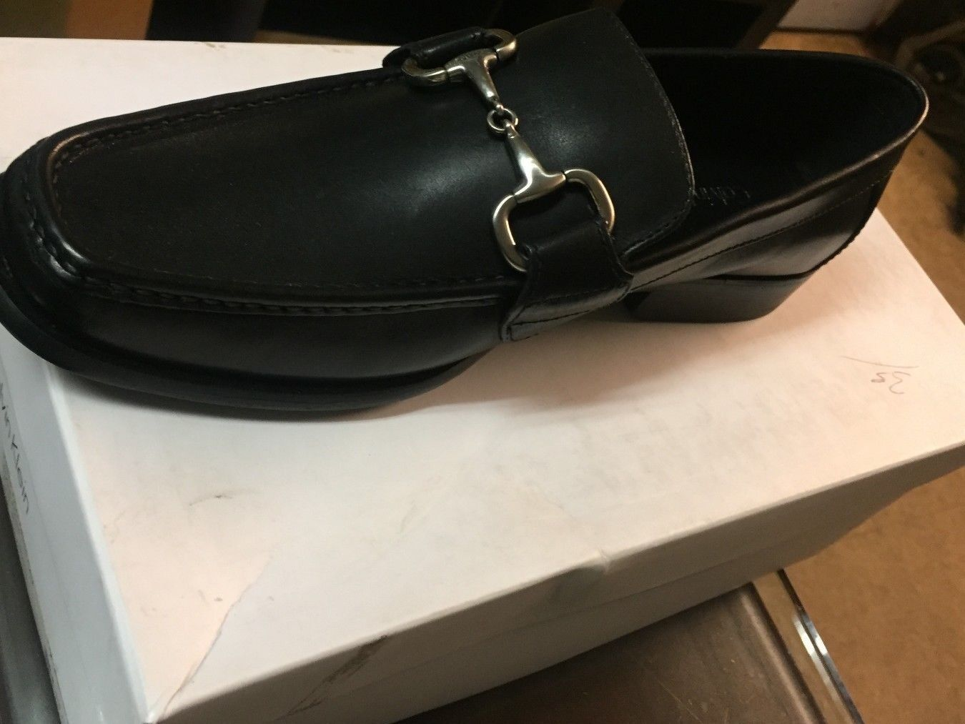 Calvin Klein Men's  Noll Dress Calf SLIP ON BLACK SHOES, BRAND NEW 10 D/M