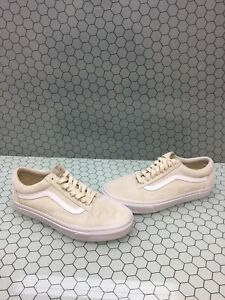 sells cheapest utterly stylish Details about VANS Old Skool Beige Suede Lace Up Low Top Skate Shoes Men's  Size 6.5 Women's 8