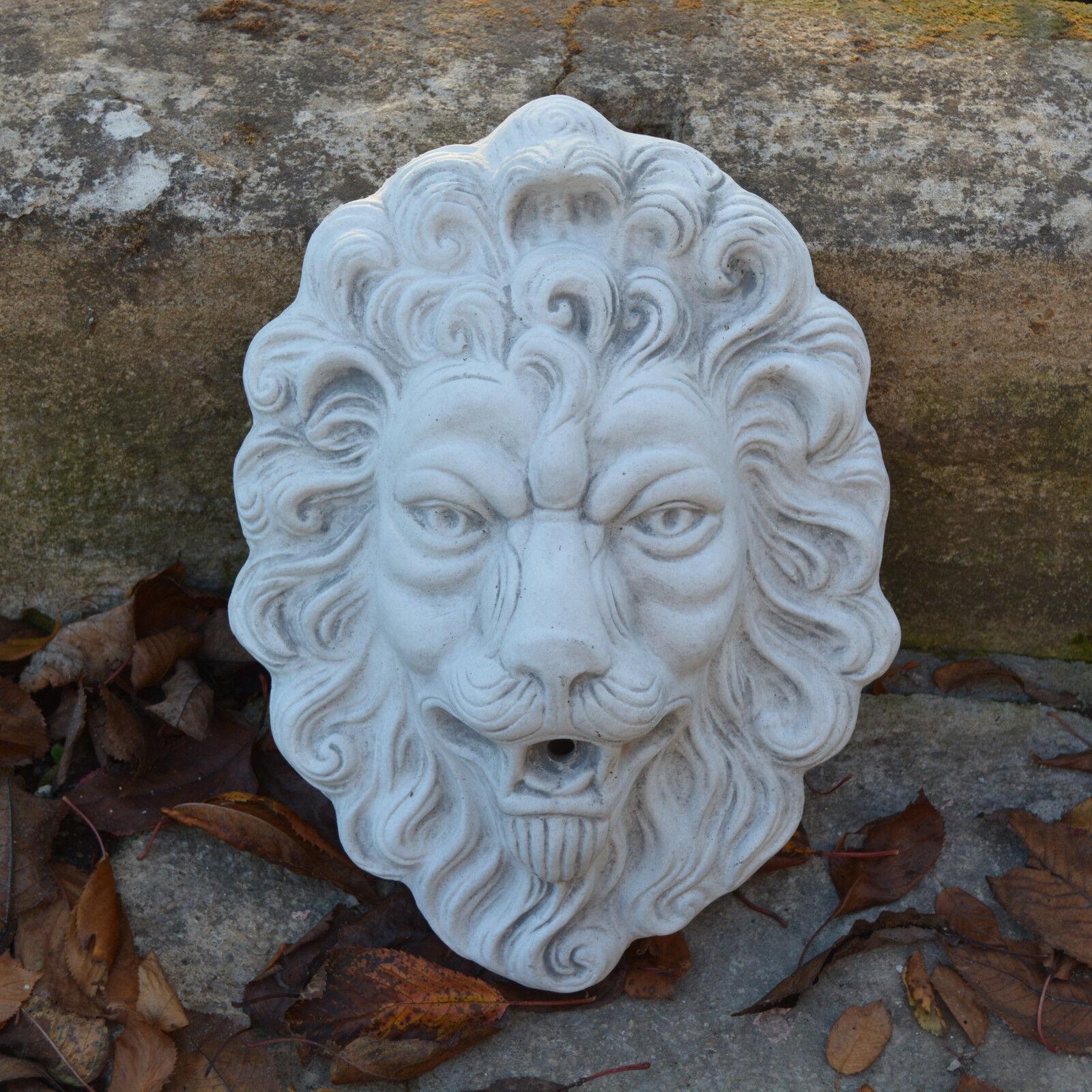 Massive piedra personaje grandes adhesivos cabeza león león raumdeko piedra fundición Frost Festival