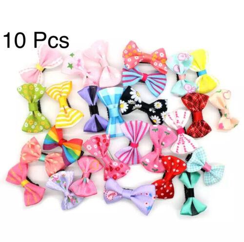10 Pcs Colorful Solid Grosgrain Ribbon Bows Clips Hairpin Girl/'s Hair Bows