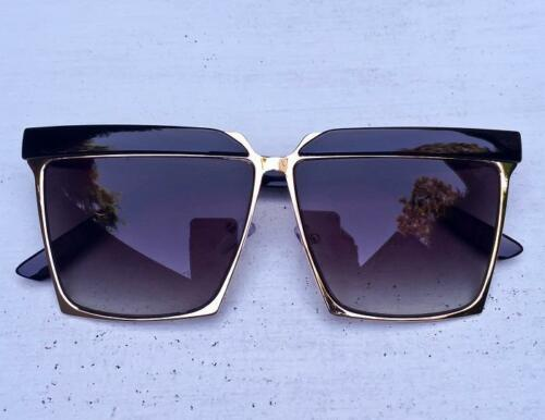 Oversized Retro Square Cat Eye Aviator Bar Large Big Fashion Sunglasses 3873 XL