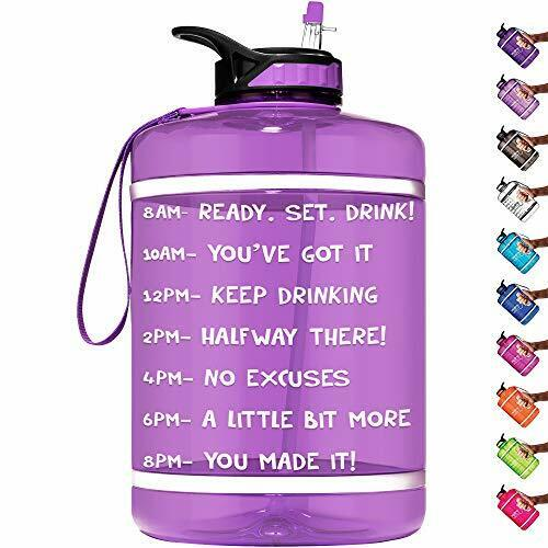 HydroMATE 1 Gallon Motivational Water Bottle with Time Marker Large Neon Green