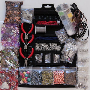 Jewellery-Making-starter-kit-beads-pliers-tools-findings-4000-items