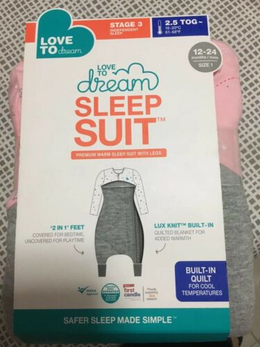 Love To Dream Sleep Suit 2.5 Tog Pink 1224 Months