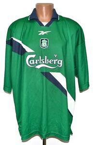 LIVERPOOL ENGLAND 1999/2000 AWAY FOOTBALL SHIRT JERSEY REEBOK SIZE XXL ADULT