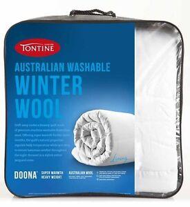 Tontine-Australian-Wool-Quilt-Doona-Duvet-500gsm-Winter-Single-Bed-Size-Washable