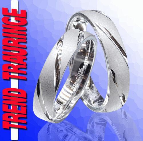 2 Fedi Nuziali Anelli di di di fidanzamento argentoo & con incisione gratuita T39x b87657