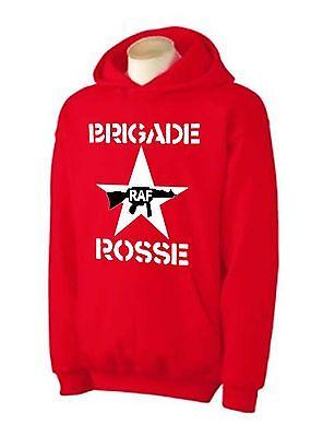 BRIGADE ROSSE HOODIE - The Clash Red Brigade Joe Strummer T-Shirt - Sizes S-XXL