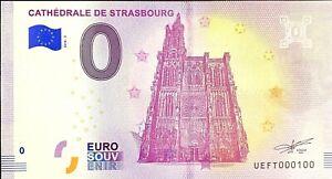 BILLET-0-EURO-CATHEDRALE-DE-STRASBOURG-FRANCE-2018-NUMERO-100