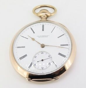 C-1900-Vacheron-amp-Constantin-18K-Gold-49mm-Open-Faced-Pocket-Watch