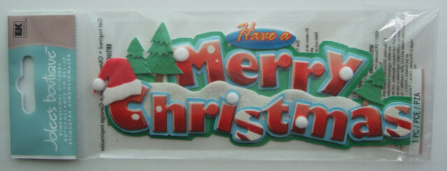 ~HAVE A MERRY CHRISTMAS~ Jolee's Boutique Title Waves Dimensional Stickers; snow