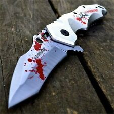 """8.5"""" ZOMBIE TANTO BLADE Spring Assisted Open Folding POCKET KNIFE Switch Clip"""