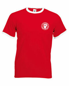 Liverpool-garder-la-foi-Ringer-T-shirt-Punk-football-adulte-Tee-Top